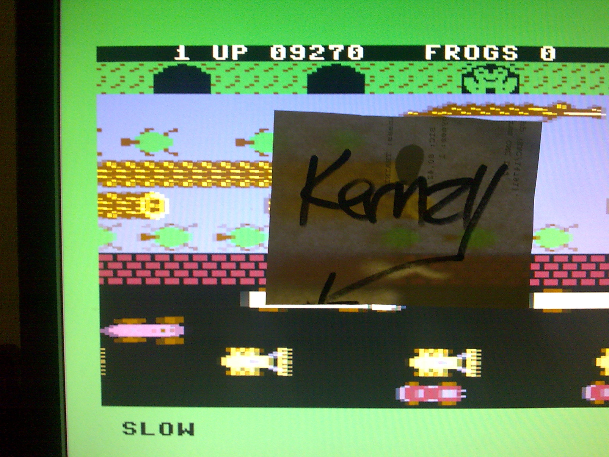 kernzy: Frogger: Parker Bros [Slow] (Commodore 64 Emulated) 9,270 points on 2014-08-30 11:20:16