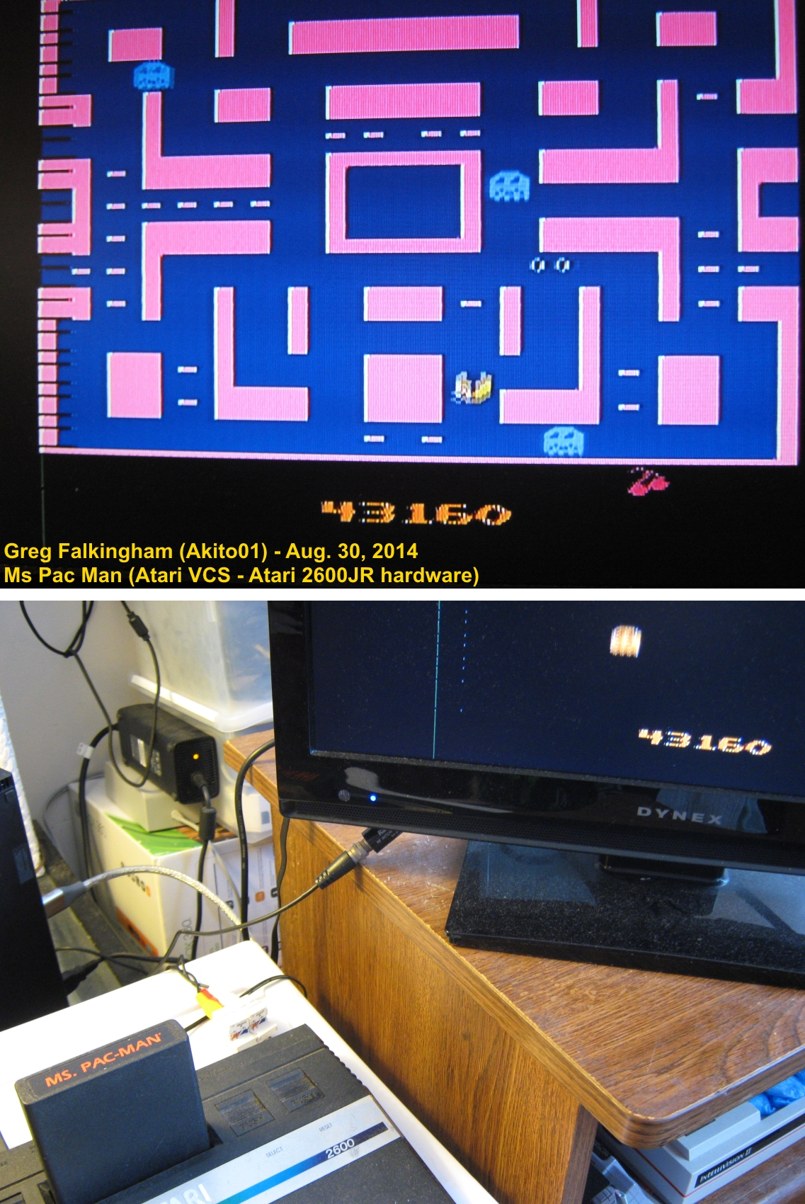 Ms. Pac-Man 43,160 points