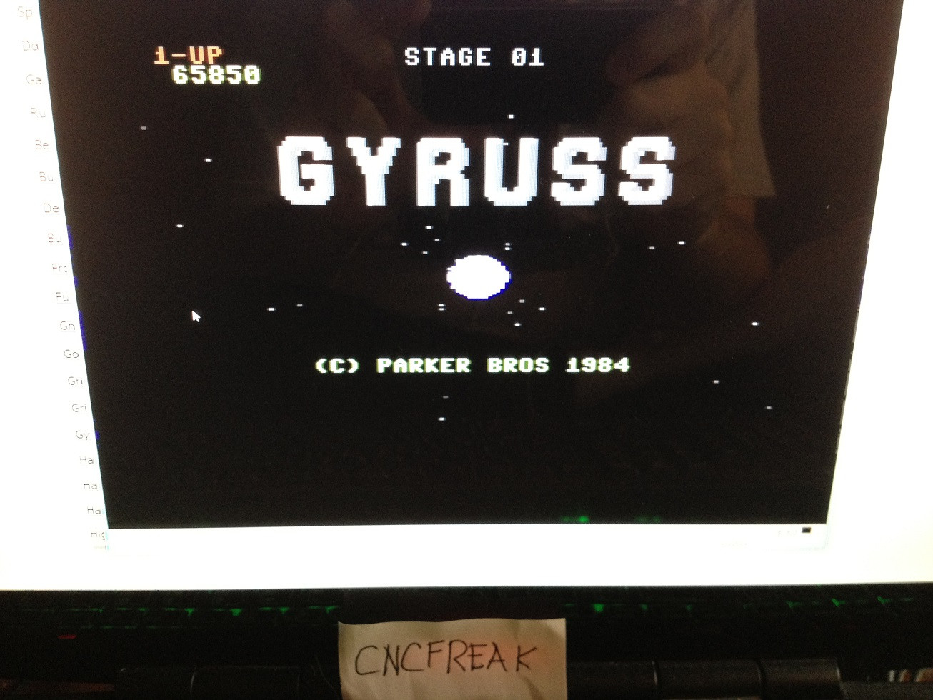 Gyruss 65,850 points