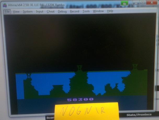 Nognir: Atlantis (Atari 400/800/XL/XE Emulated) 58,300 points on 2014-09-01 11:08:13