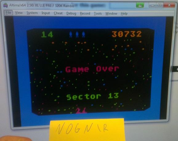 Nognir: Beamrider (Atari 400/800/XL/XE Emulated) 30,732 points on 2014-09-01 11:27:55