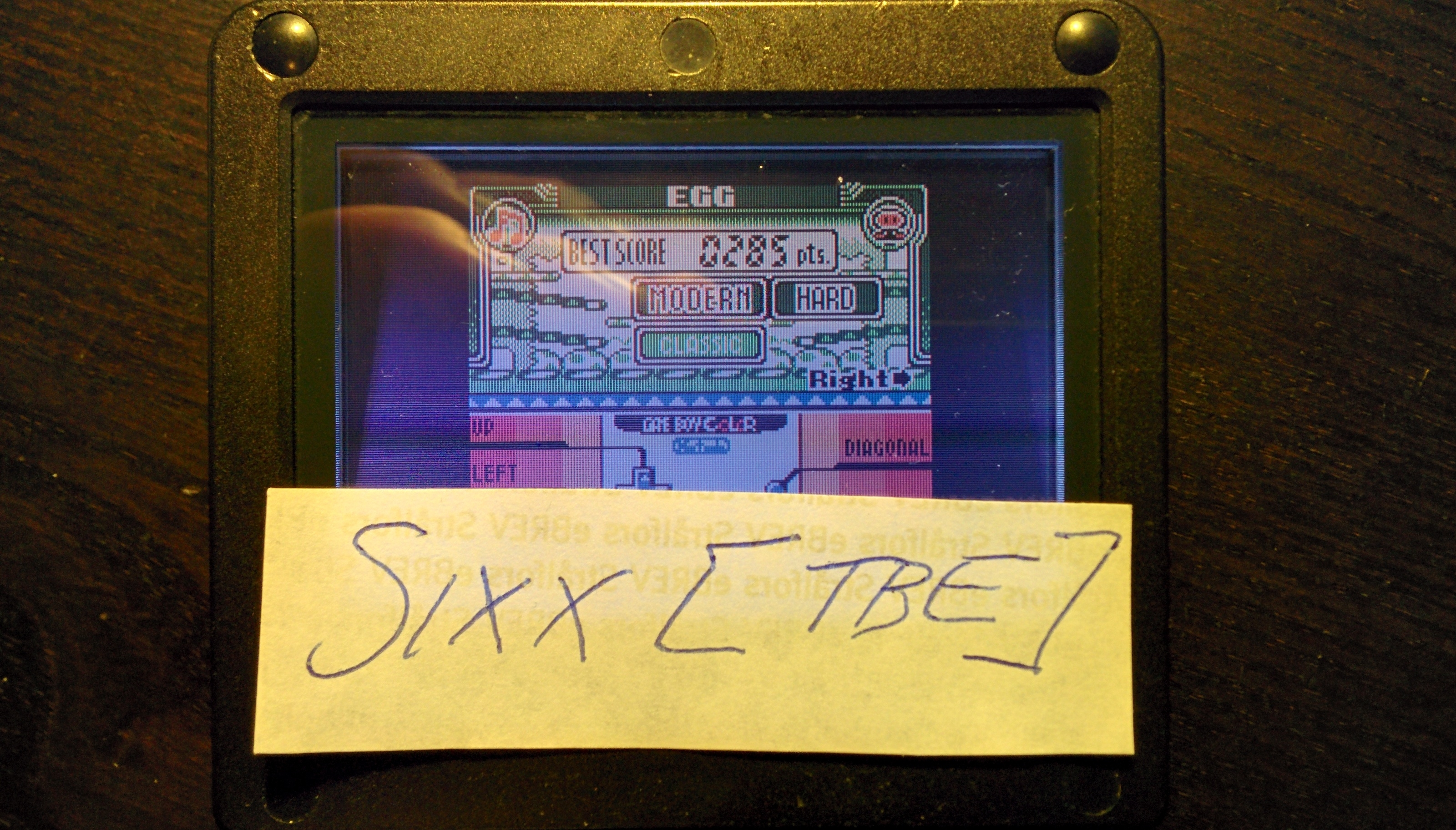 Sixx: Game & Watch Gallery 3: Egg: Modern: Hard (Game Boy Color) 285 points on 2014-09-01 17:16:48