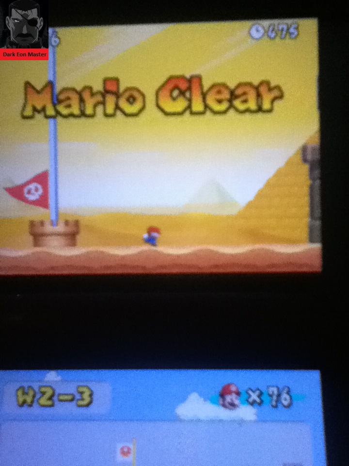 DarkEonMaster: New Super Mario Bros.: World 2-3 [Remaining Time] (Nintendo DS) 475 points on 2014-09-02 01:26:31
