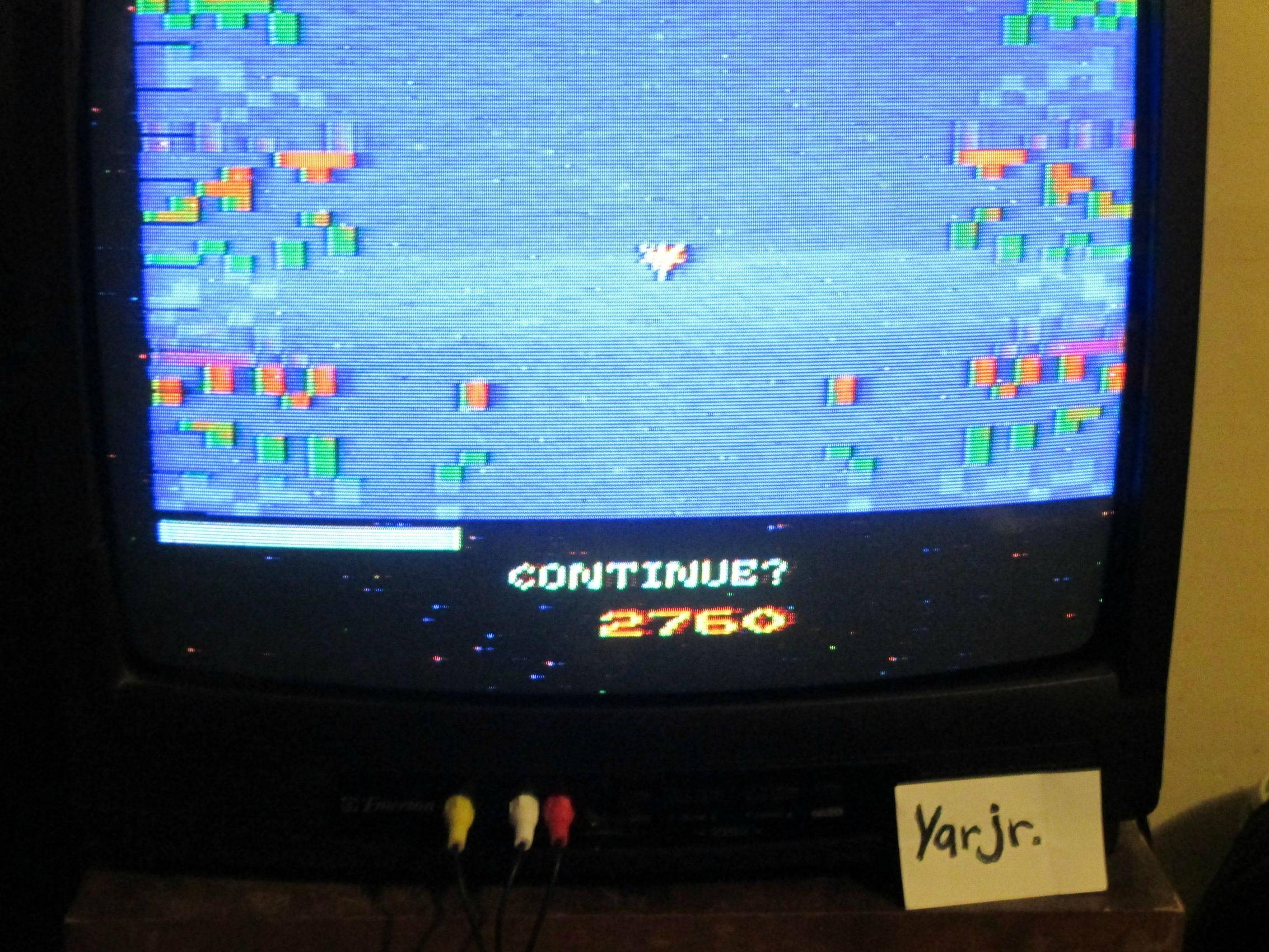 yarjr: Vanguard (Atari 2600 Novice/B) 2,760 points on 2013-09-05 00:34:02