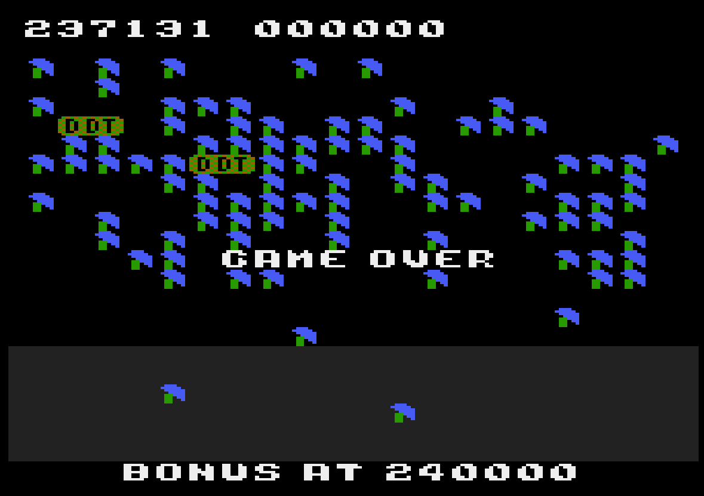 Liduario: Millipede (Atari 400/800/XL/XE Emulated) 237,131 points on 2014-09-02 17:12:24