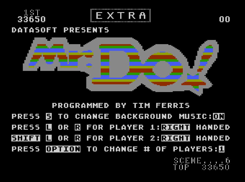 Liduario: Mr. Do! (Atari 400/800/XL/XE Emulated) 33,650 points on 2014-09-02 17:46:08