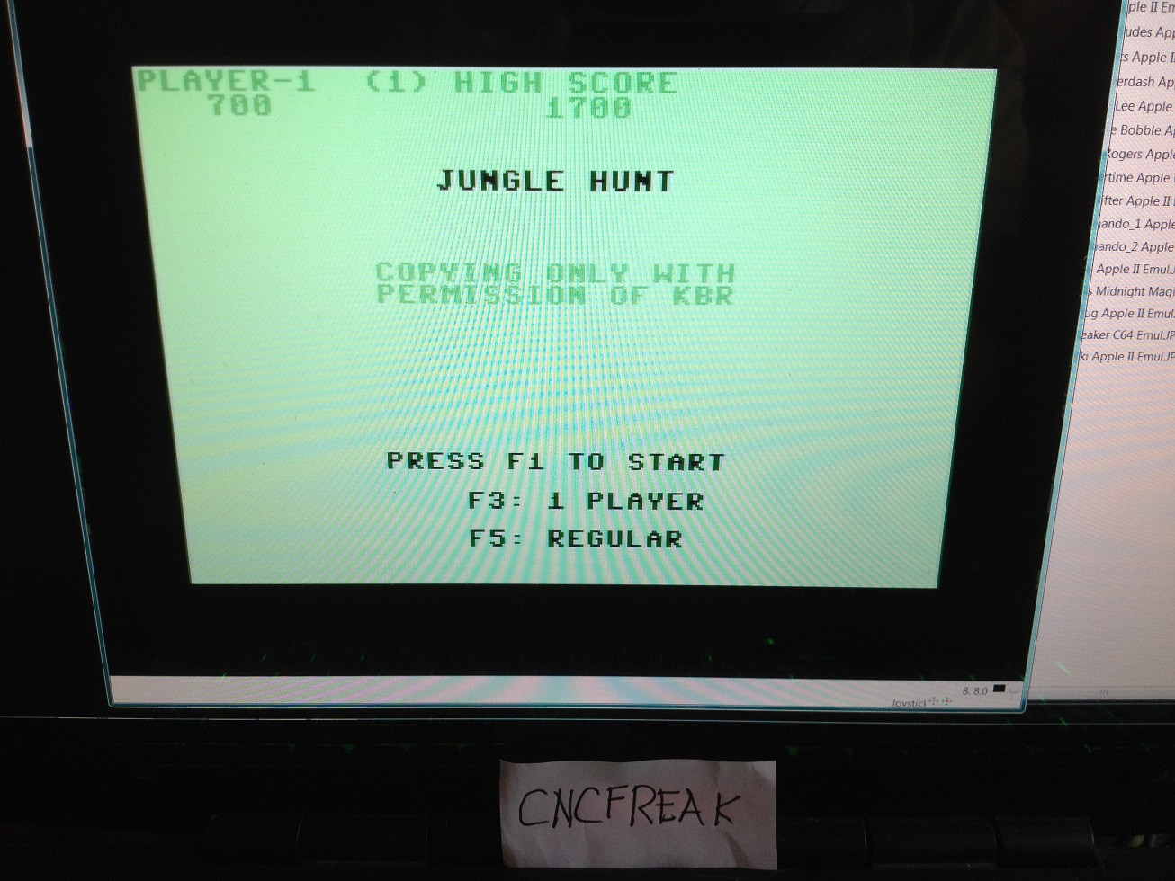 Jungle Hunt 1,700 points