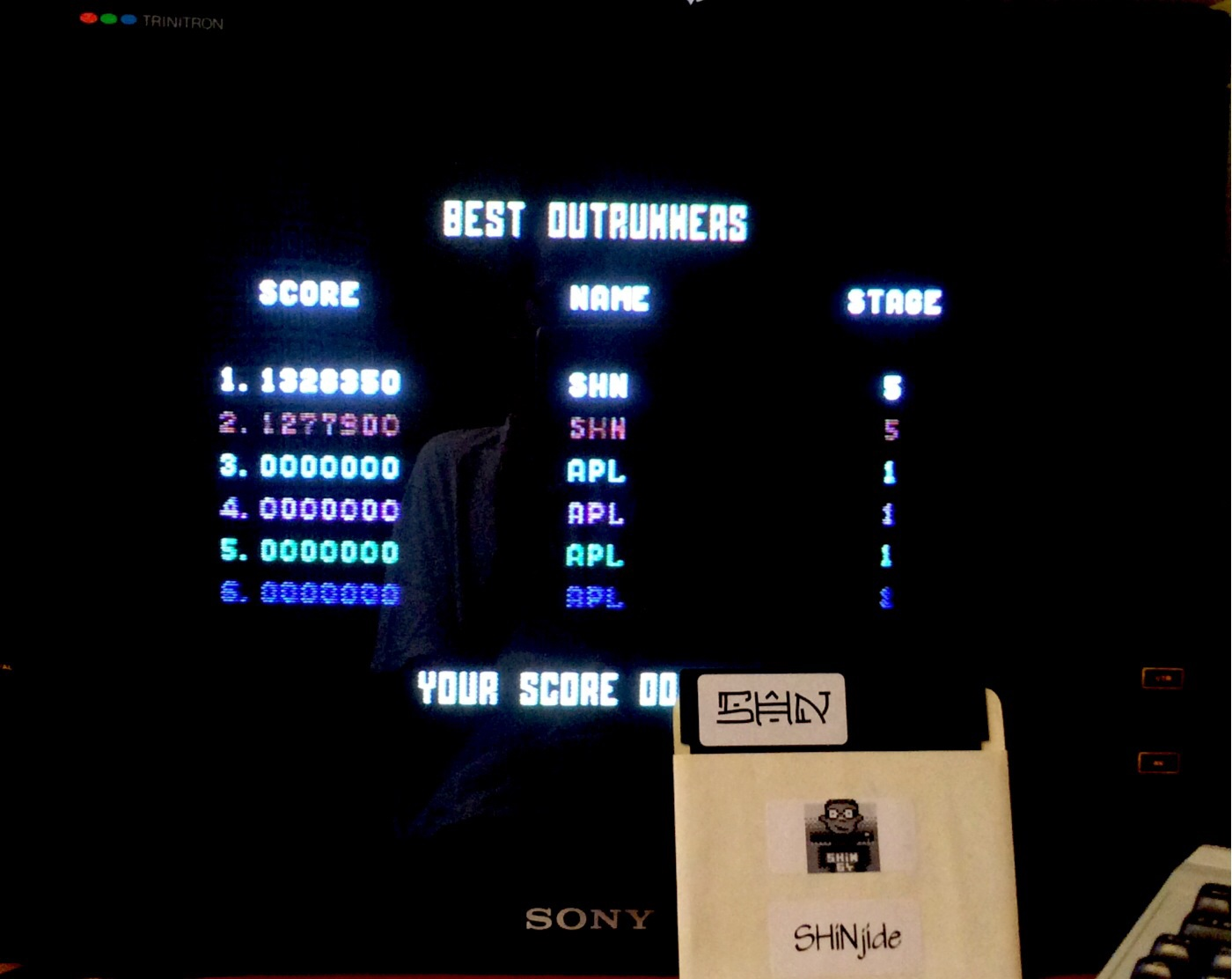 Outrun: Course A 1,328,350 points