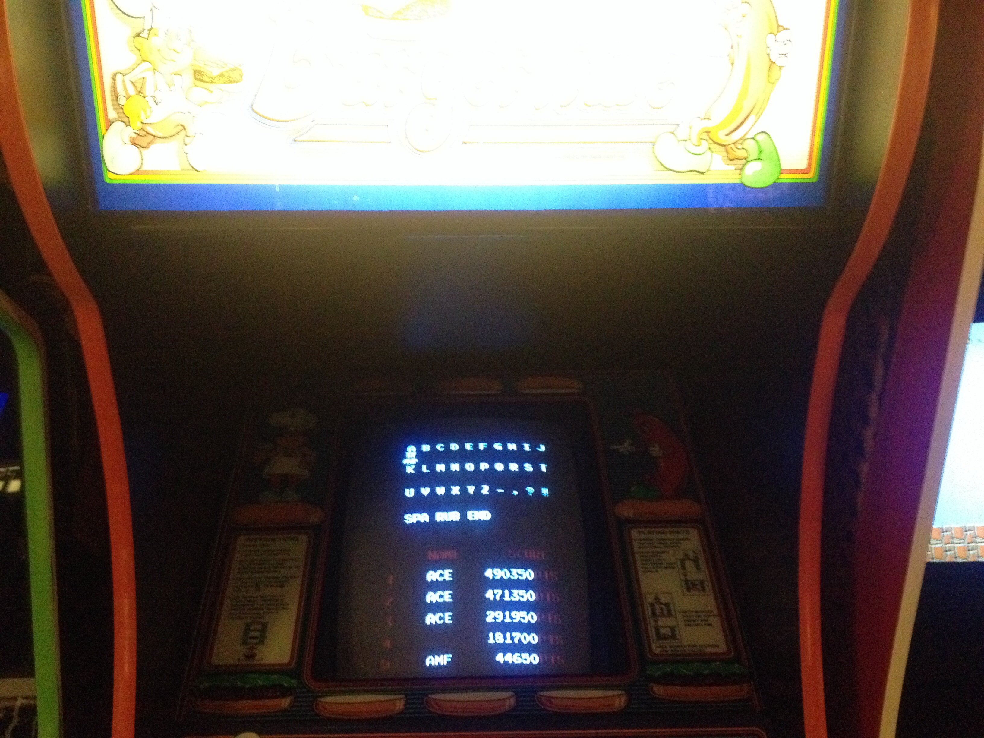 FosterAMF: BurgerTime (Arcade) 44,650 points on 2014-09-04 14:22:06