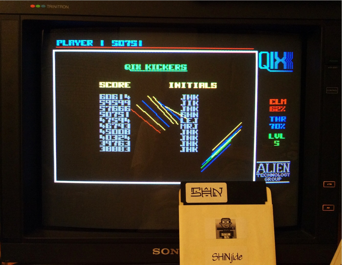SHiNjide: Qix (Amiga) 50,751 points on 2014-09-05 11:13:35