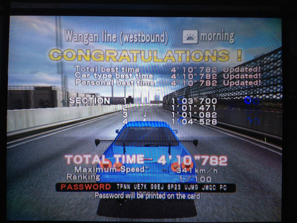 AmetDj: Wangan Midnight Maximum Tune 3: Wangan Line Westbound [Time Attack] (Arcade) 0:04:10.782 points on 2014-09-06 07:49:43
