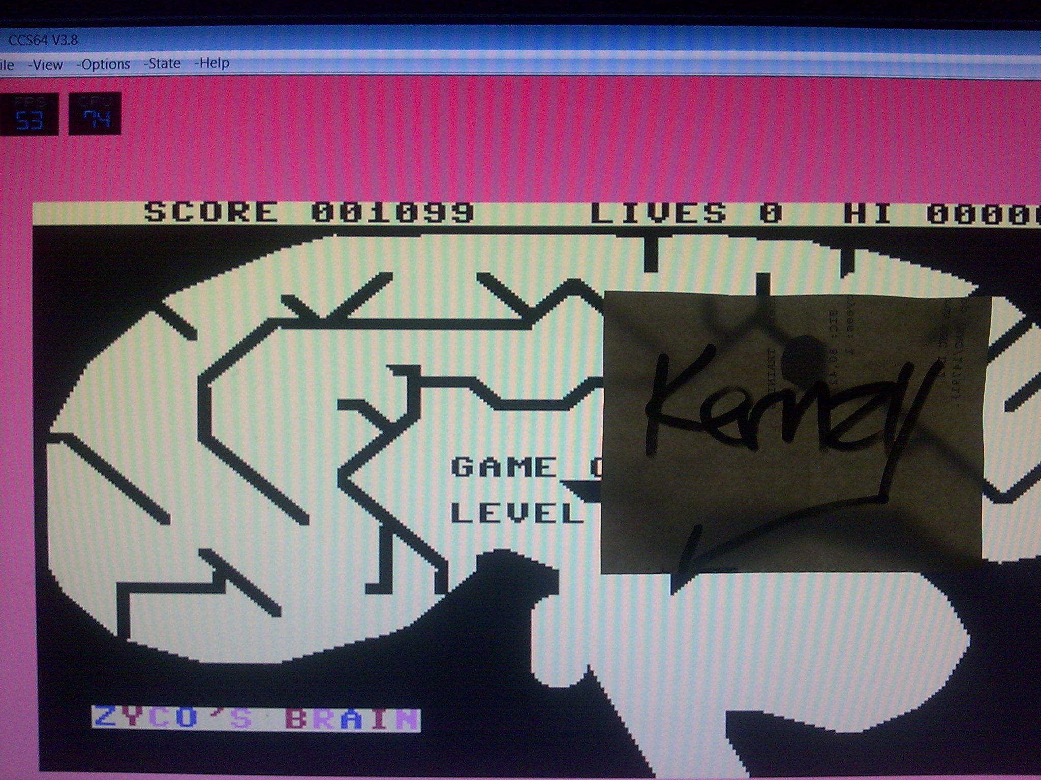 kernzy: Mind Control (Commodore 64 Emulated) 1,099 points on 2014-09-06 09:52:37