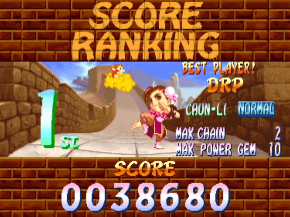 Super Puzzle Fighter II Turbo [spf2t] 38,680 points