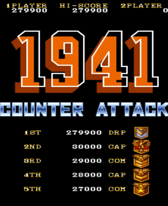 Scootablue: 1941: Counter Attack (Arcade Emulated / M.A.M.E.) 279,900 points on 2014-09-06 11:41:49