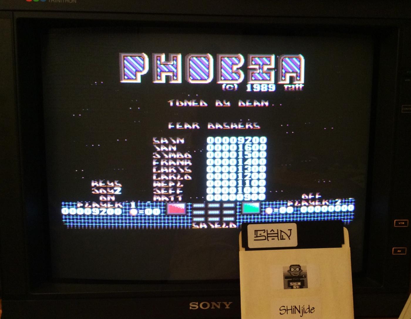 SHiNjide: Phobia (Amiga) 9,200 points on 2014-09-06 16:55:24