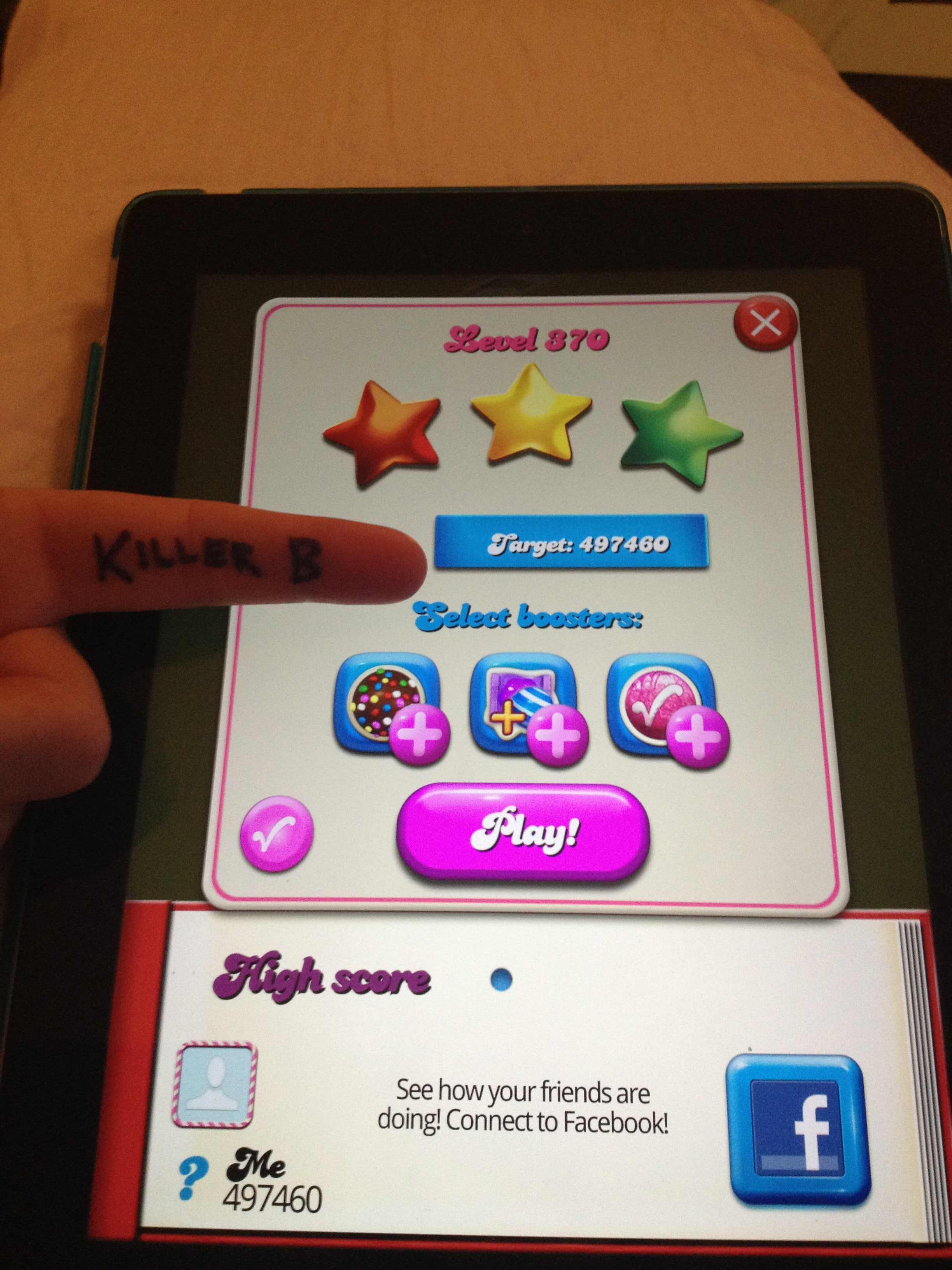 KillerB: Candy Crush Saga: Level 370 (iOS) 497,460 points on 2013-10-05 13:15:32