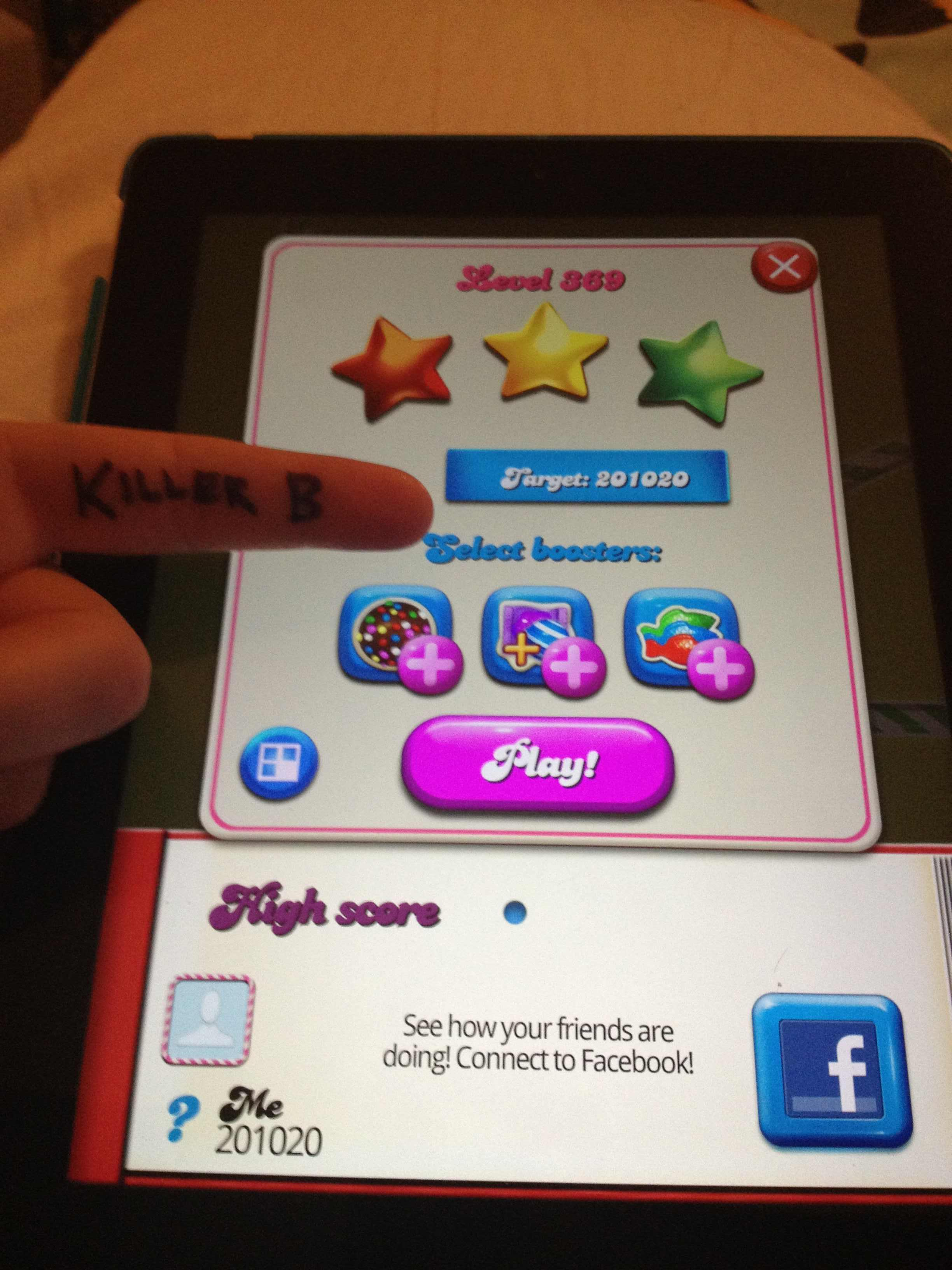 KillerB: Candy Crush Saga: Level 369 (iOS) 201,020 points on 2013-10-05 13:19:39