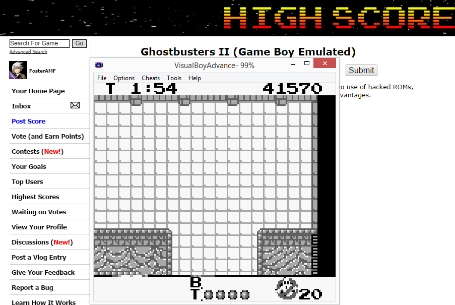 FosterAMF: Ghostbusters II (Game Boy Emulated) 41,570 points on 2014-09-07 16:03:12