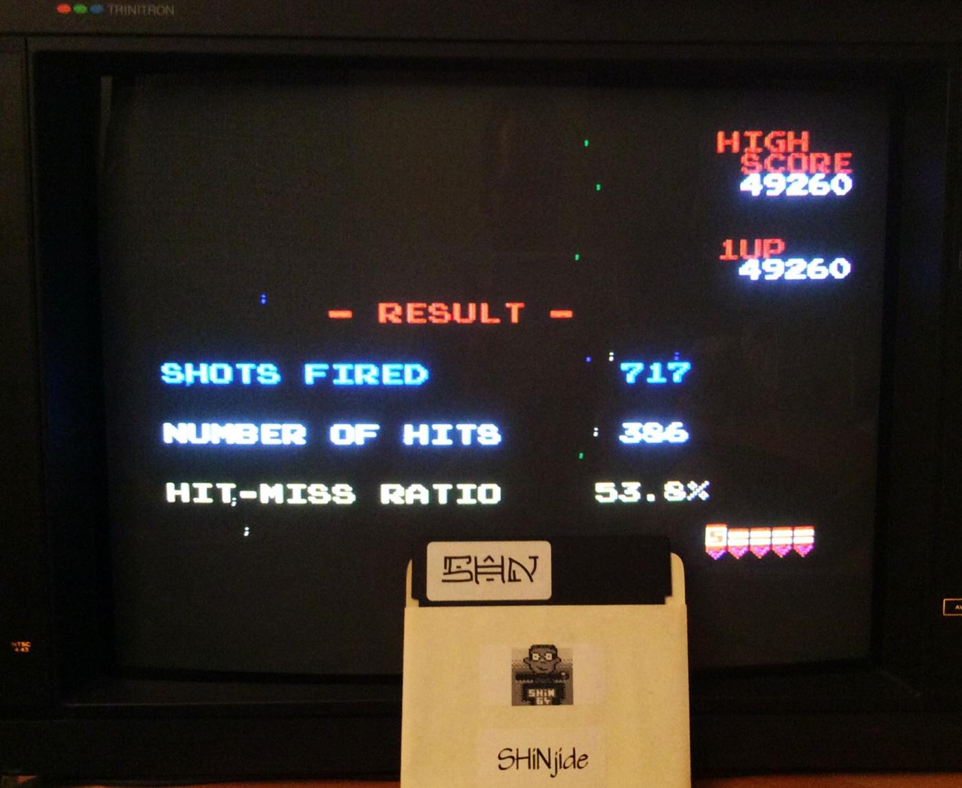 SHiNjide: Galaga (NES/Famicom Emulated) 49,260 points on 2014-09-07 16:59:38