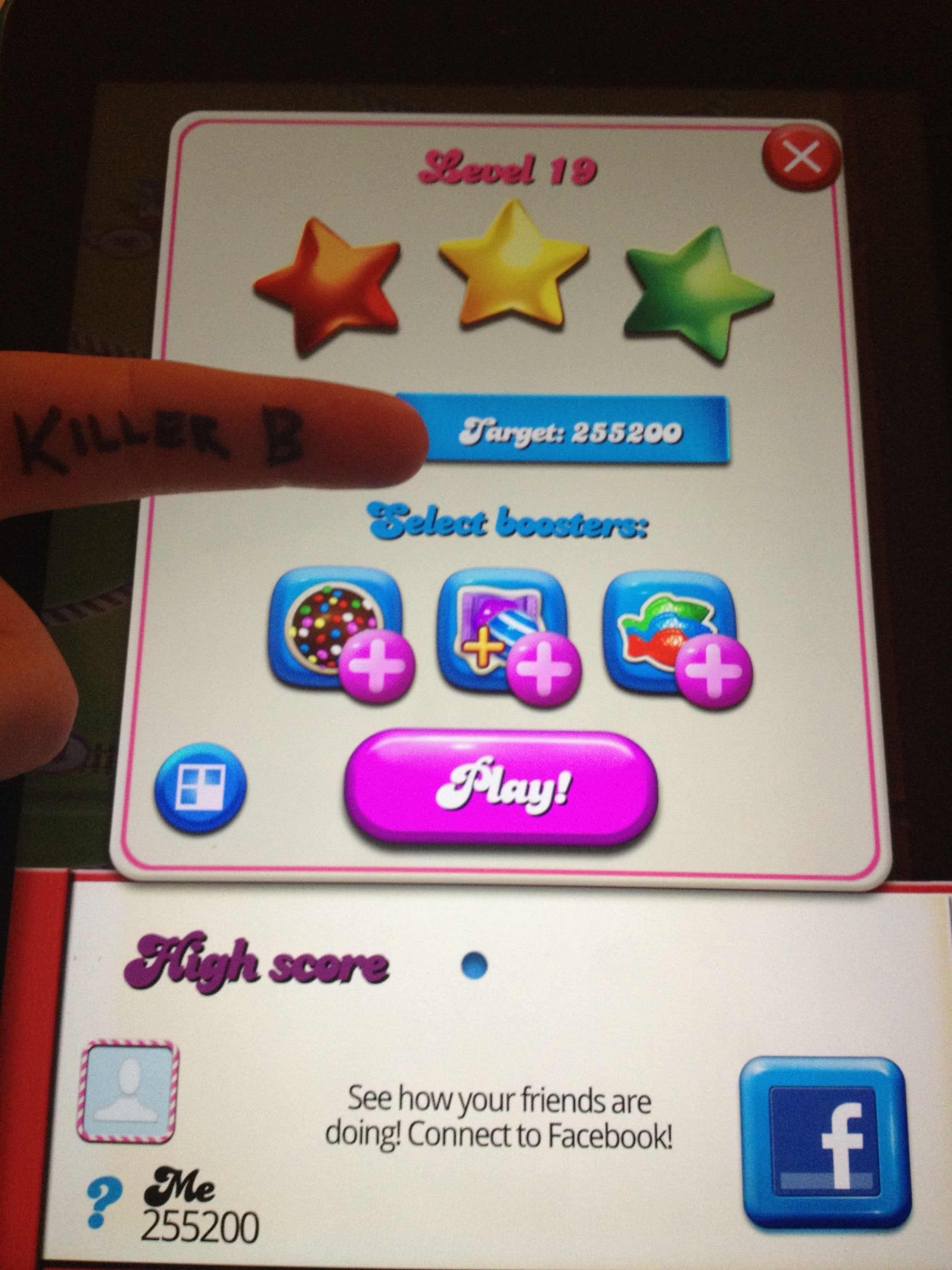 KillerB: Candy Crush Saga: Level 019 (iOS) 255,200 points on 2013-10-05 13:33:48