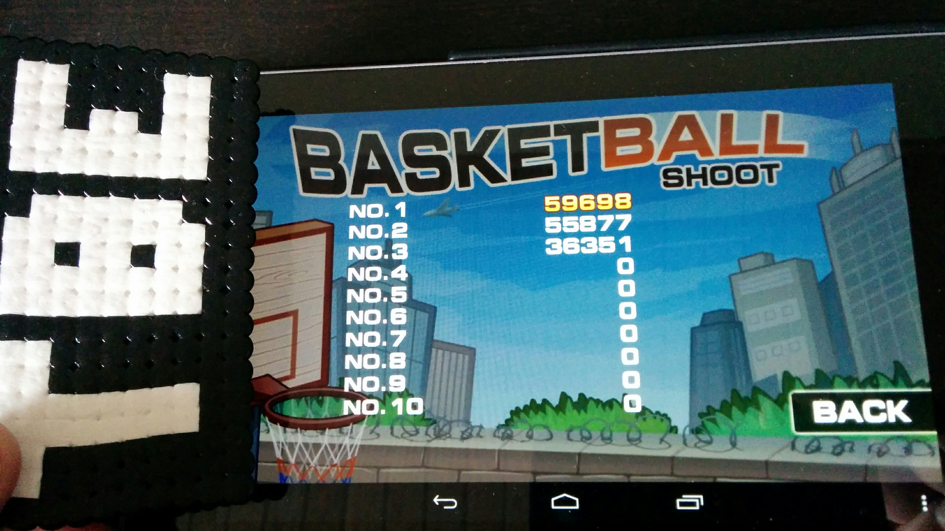 Sixx: Basketball Shoot [Sunfoer Mobile] (Android) 59,698 points on 2014-09-08 08:35:25
