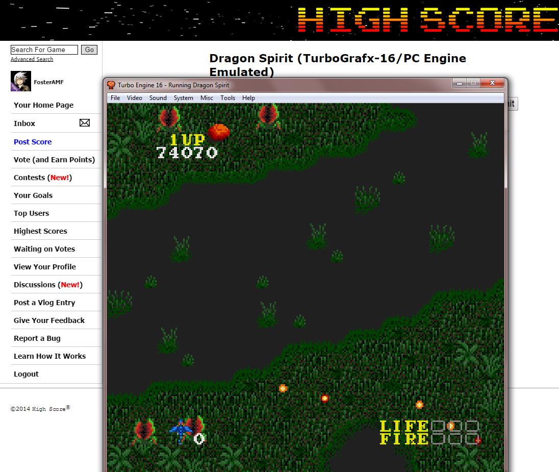 FosterAMF: Dragon Spirit (TurboGrafx-16/PC Engine Emulated) 74,070 points on 2014-09-08 16:58:53