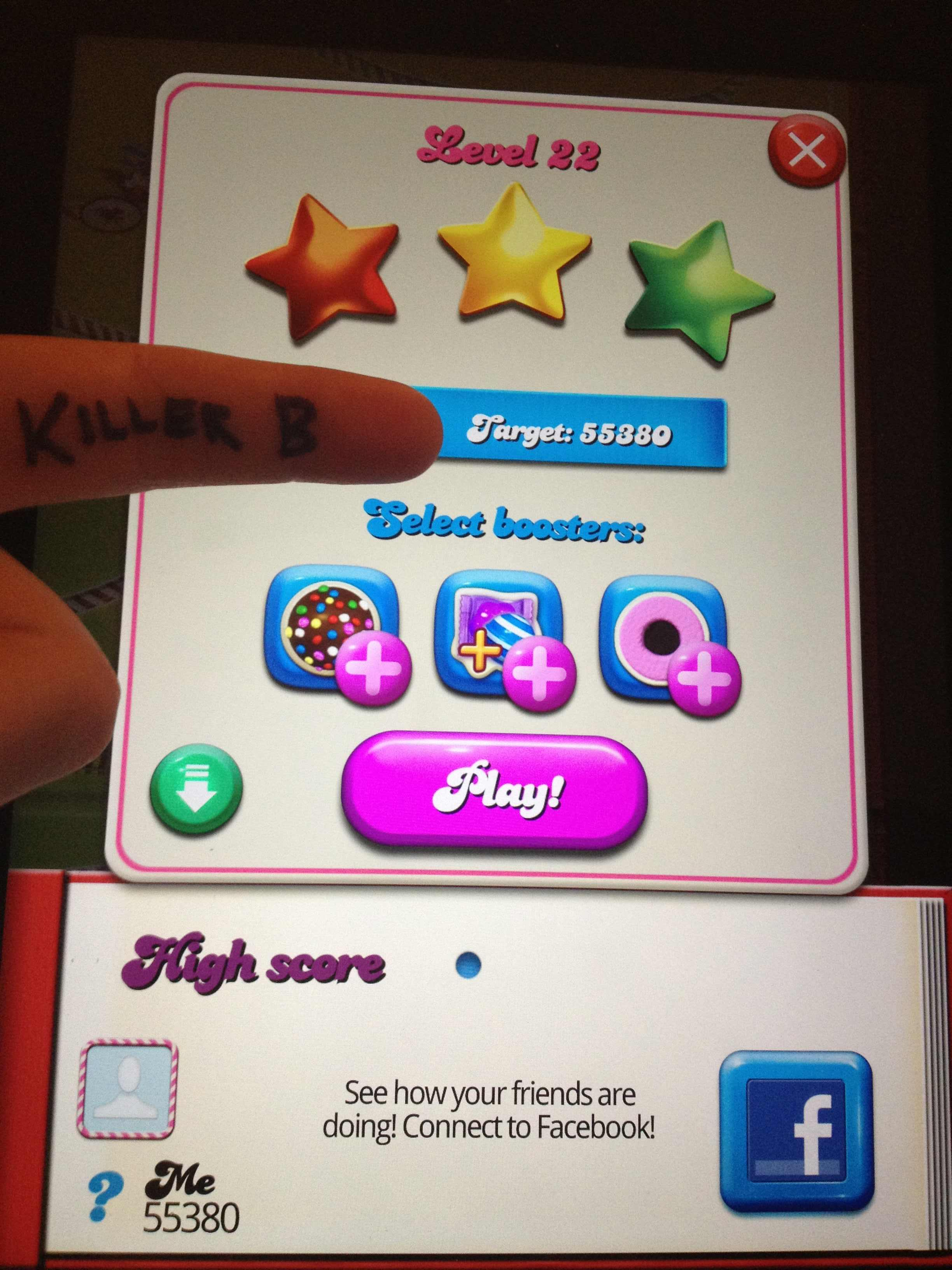 Candy Crush Saga: Level 022 55,380 points