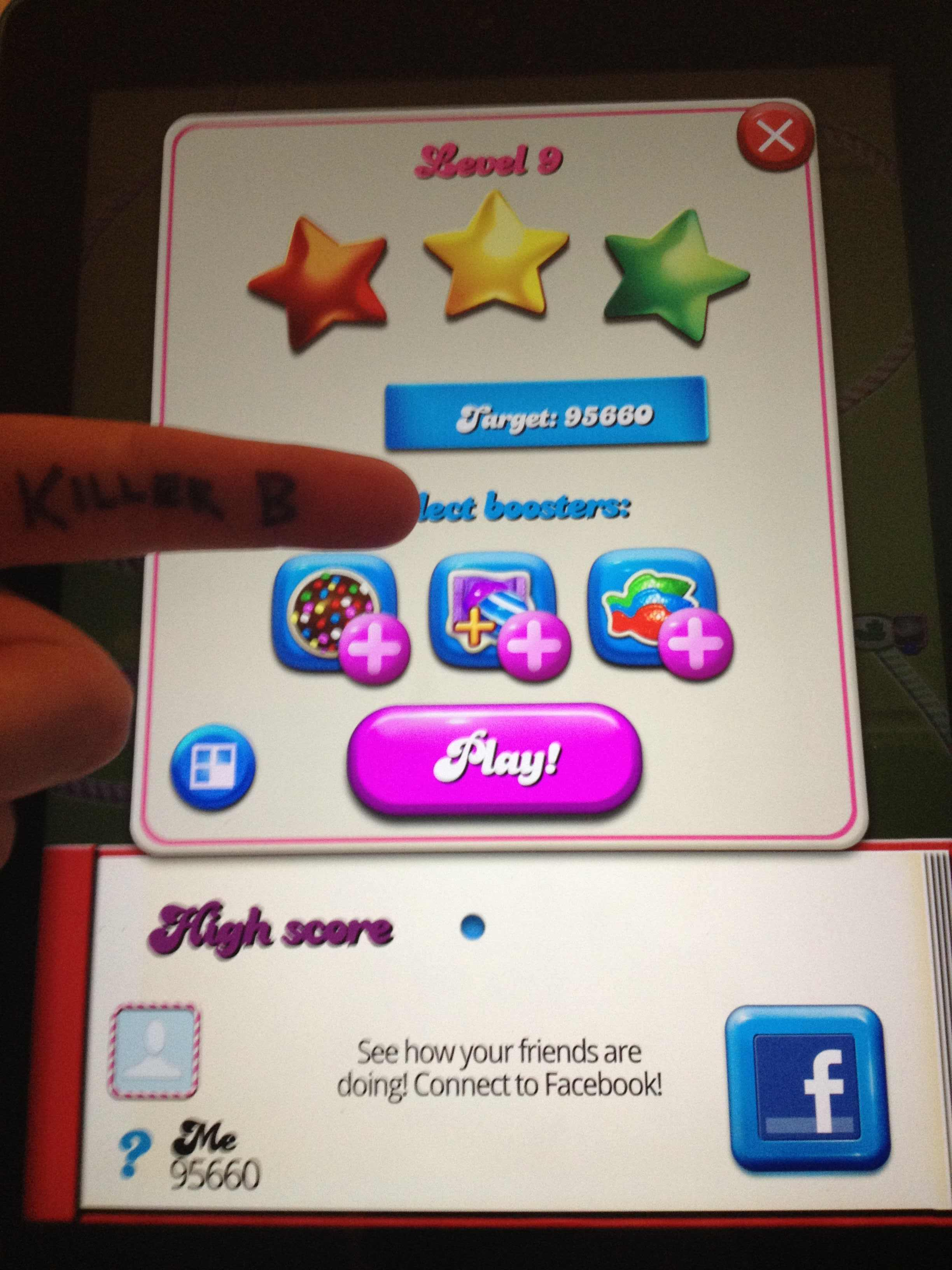 KillerB: Candy Crush Saga: Level 009 (iOS) 95,660 points on 2013-10-05 13:54:41