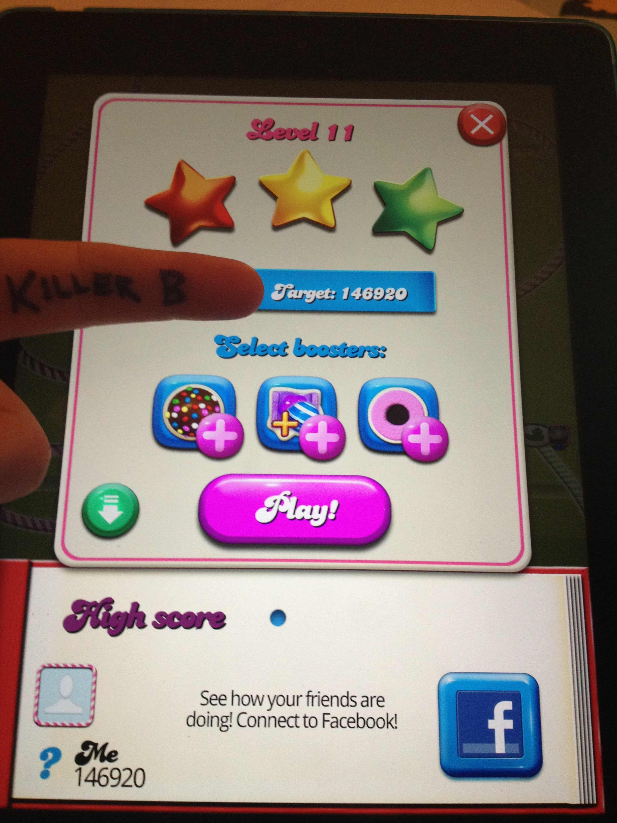 Candy Crush Saga: Level 011 146,920 points