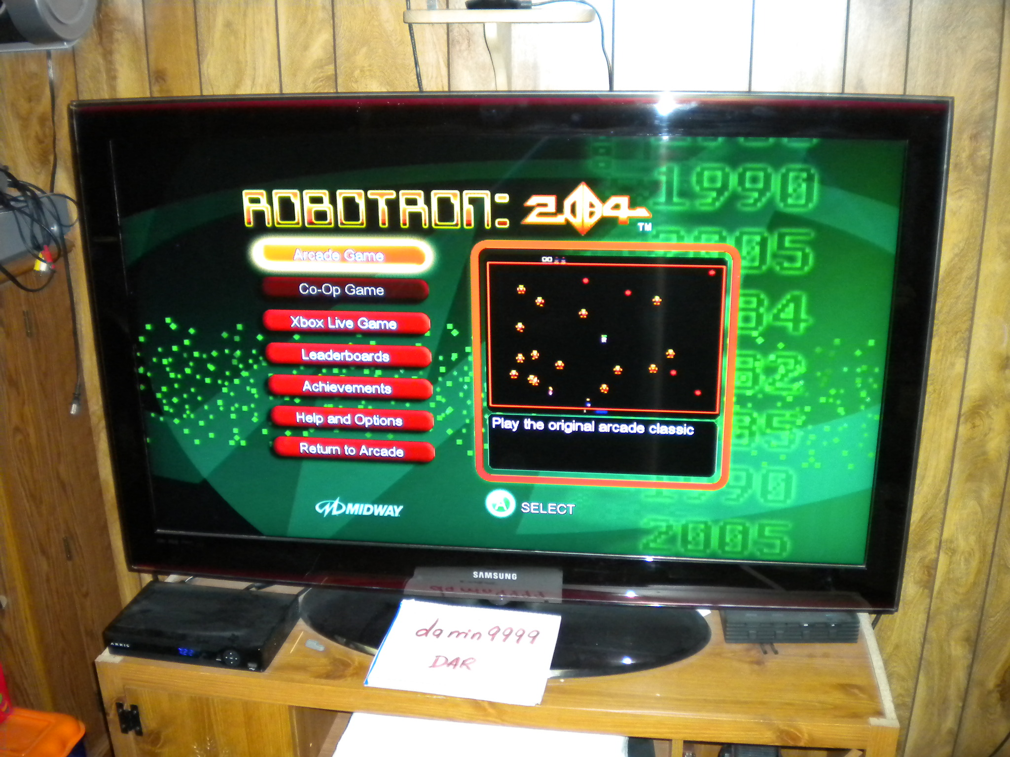 Robotron 2084 20,825 points