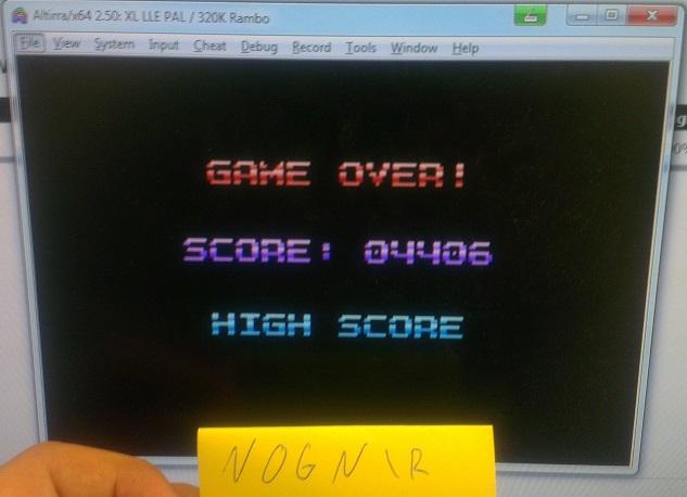 Nognir: Yoomp!: Level 1 Start (Atari 400/800/XL/XE Emulated) 4,406 points on 2014-09-12 09:11:29