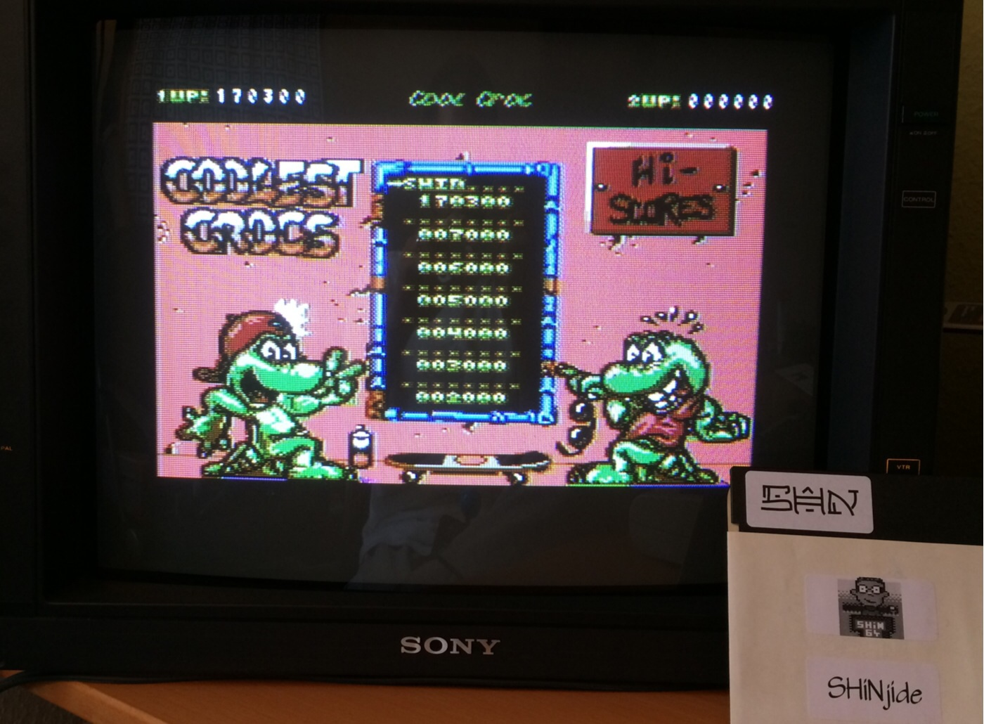 SHiNjide: Cool Croc Twins (Commodore 64) 170,300 points on 2014-09-13 04:34:47