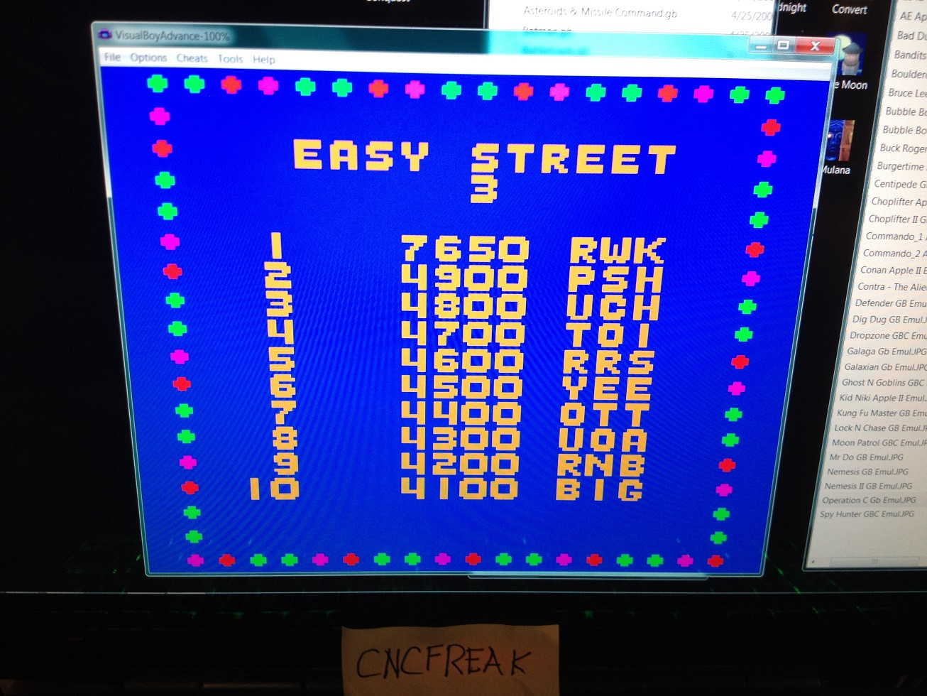 Paperboy 7,650 points