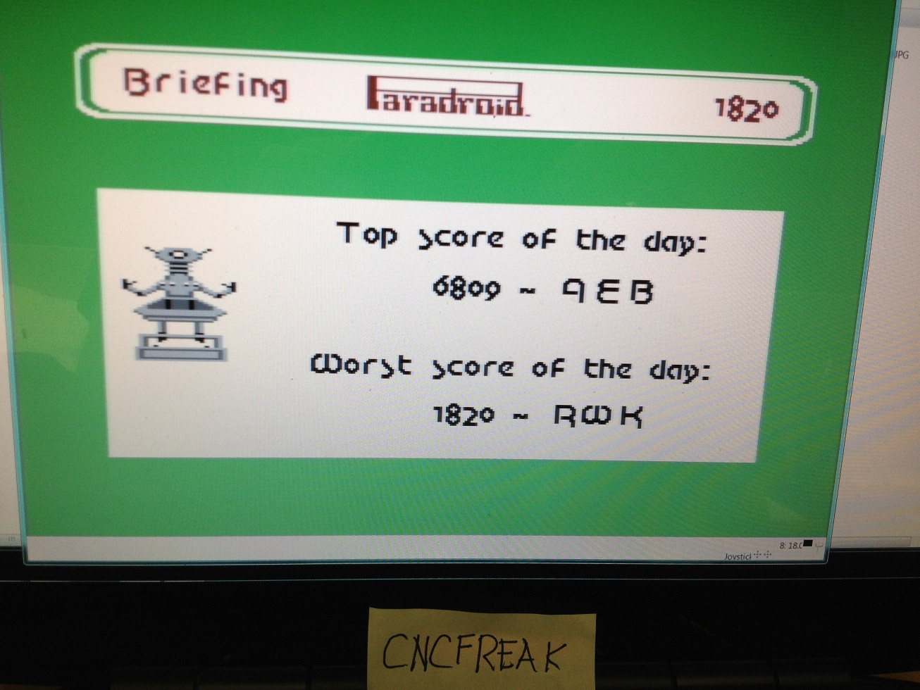 Paradroid 1,820 points