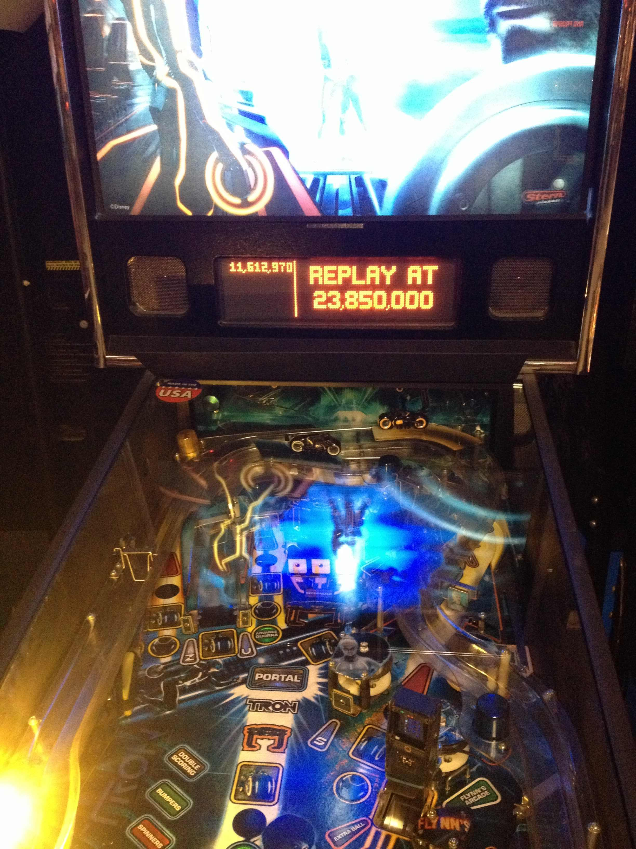 KillerB: Tron (Pinball: 3 Balls) 11,612,970 points on 2013-10-06 01:11:33