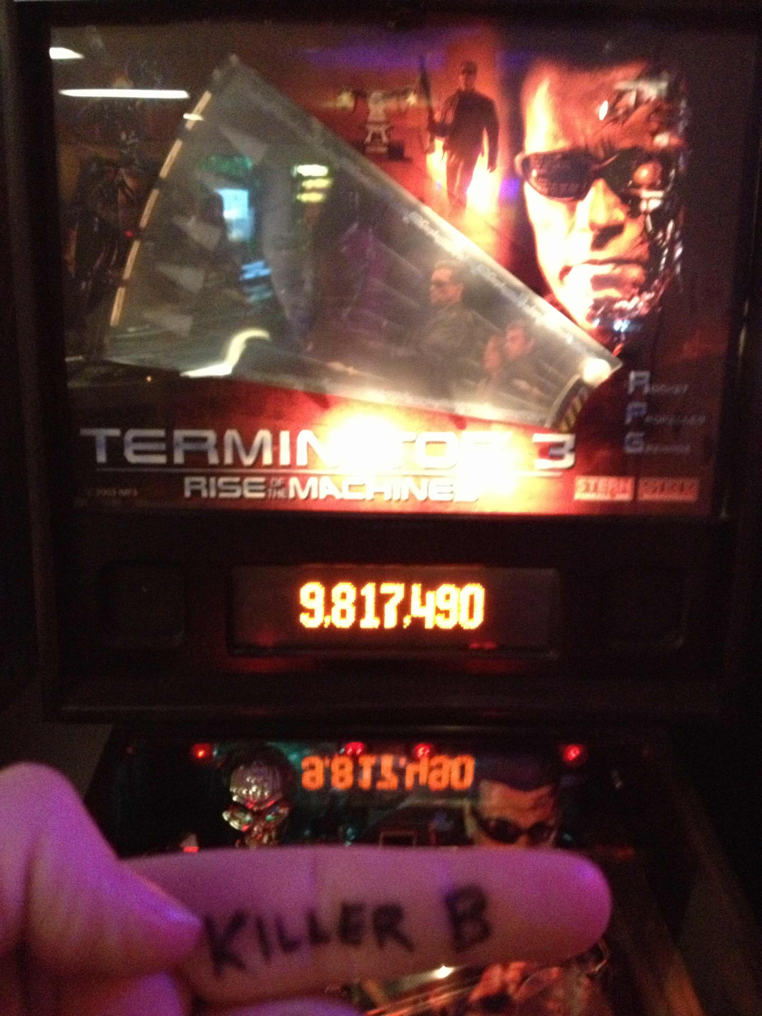 KillerB: Terminator 3: Rise of the Machines (Pinball: 3 Balls) 9,817,490 points on 2013-10-06 01:14:26