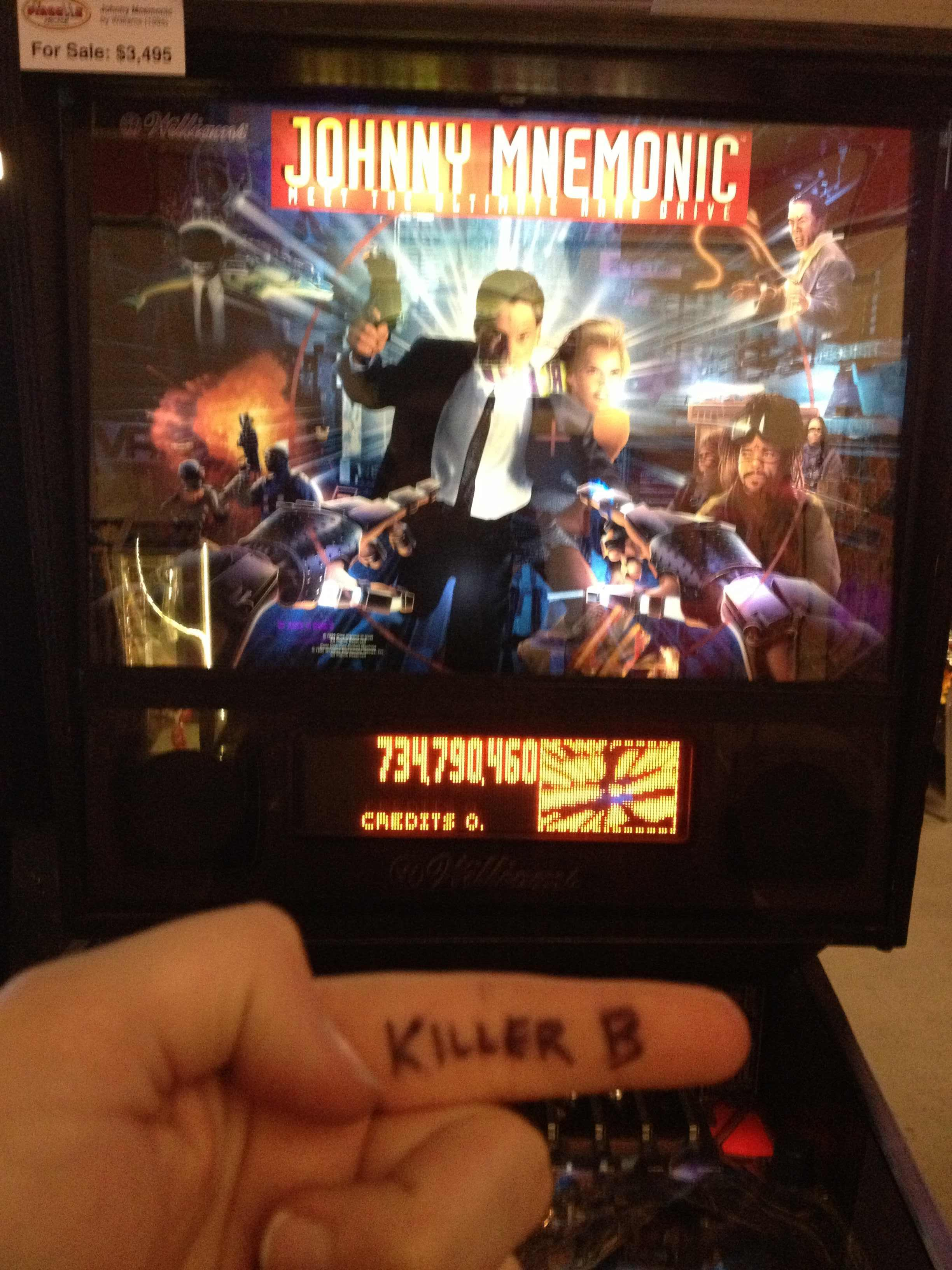 KillerB: Johnny Mnemonic (Pinball: 3 Balls) 734,790,460 points on 2013-10-06 01:16:07