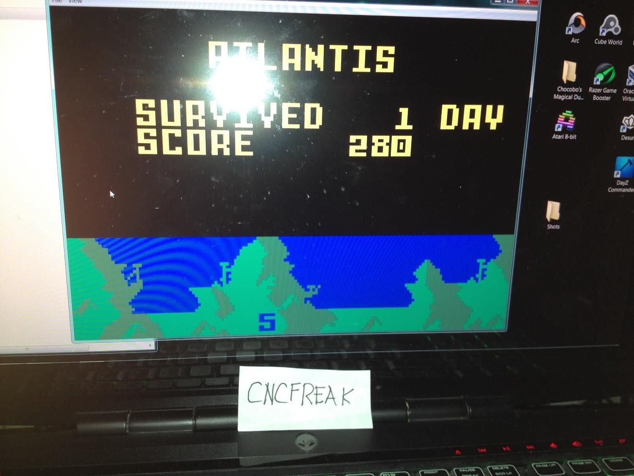 Atlantis: Easy 280 points