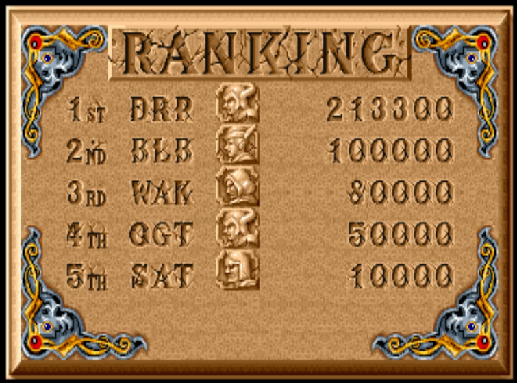 Scootablue: The King of Dragons [kod] (Arcade Emulated / M.A.M.E.) 213,300 points on 2014-09-17 15:43:16