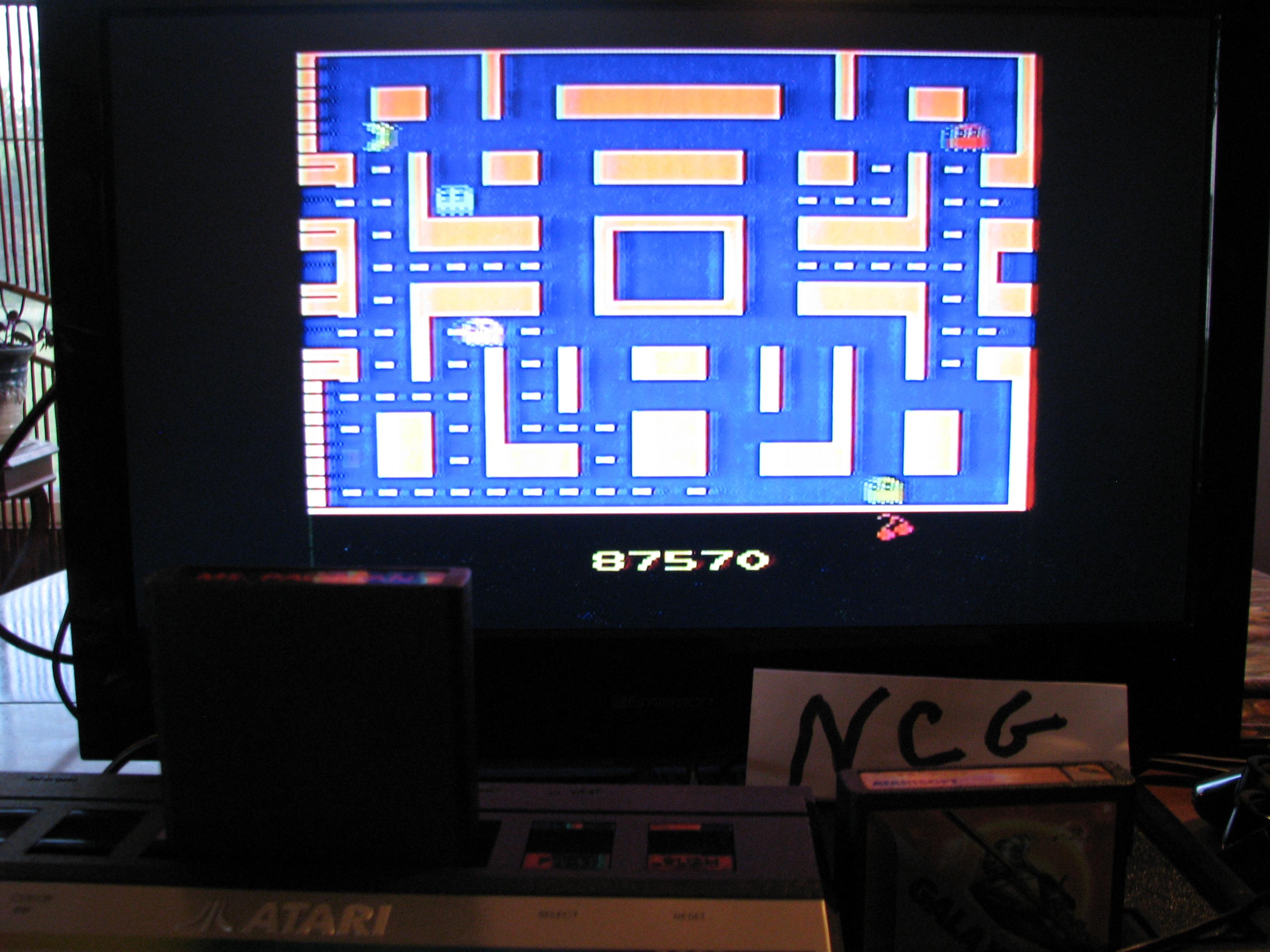 NorthCoastGamer: Ms. Pac-Man (Atari 2600) 87,570 points on 2014-09-17 18:23:56