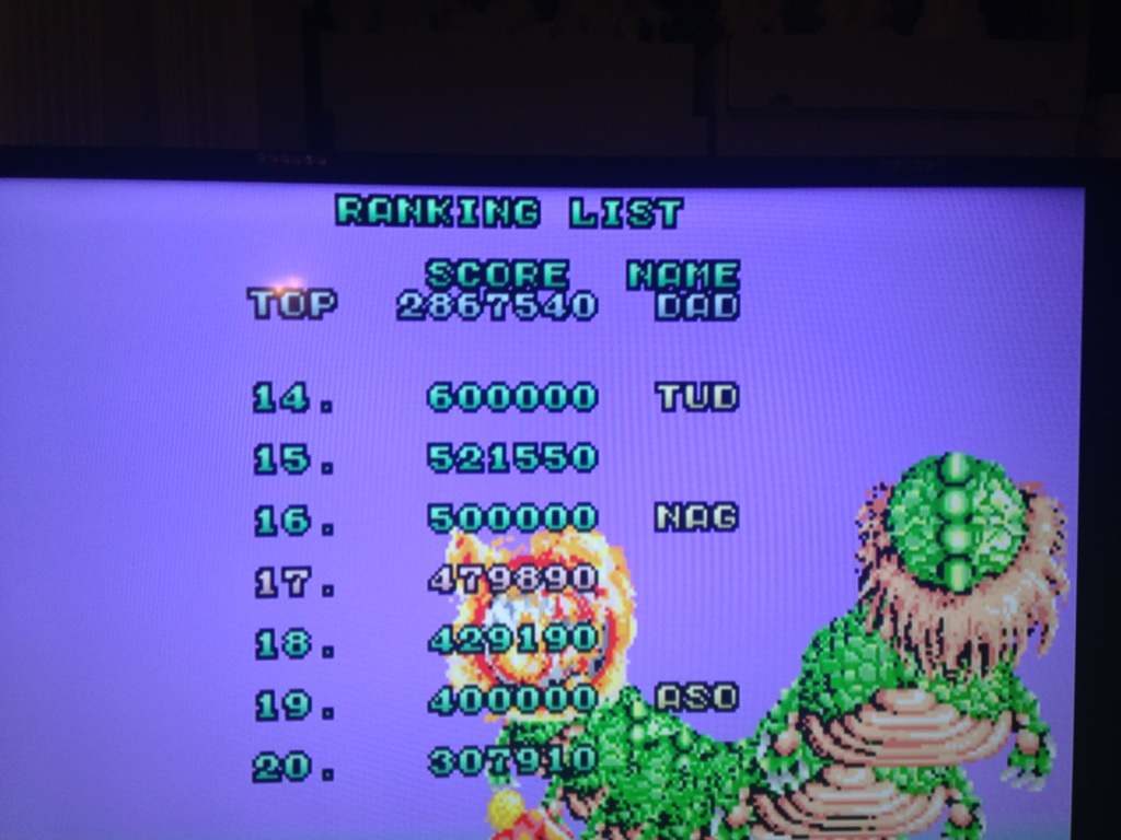 Space Harrier 2,867,540 points