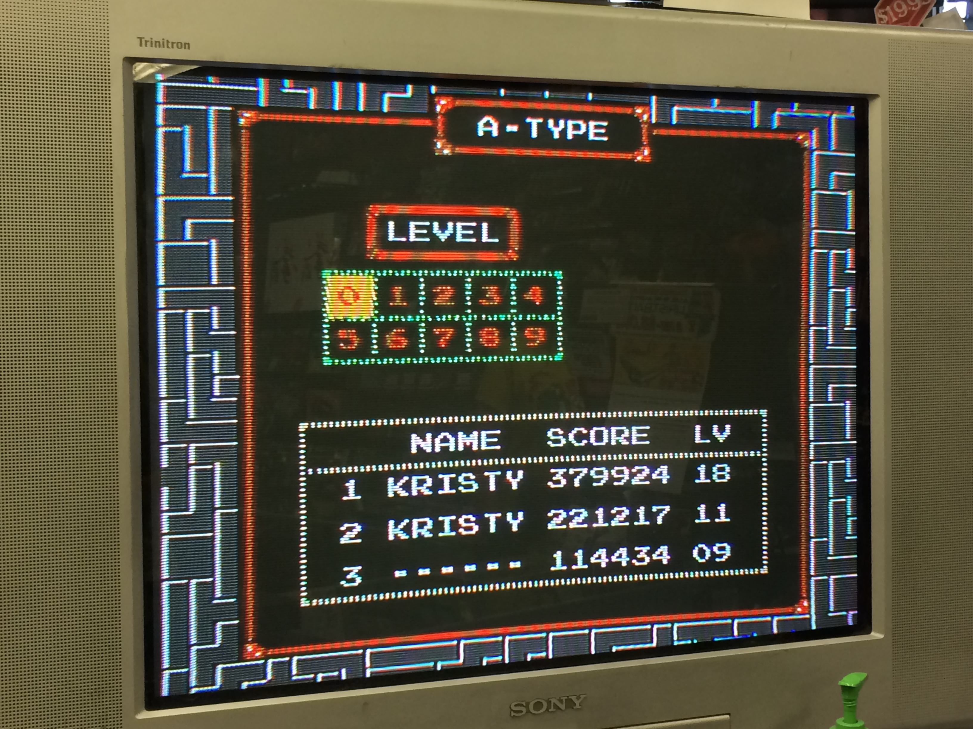 Tetris 379,924 points