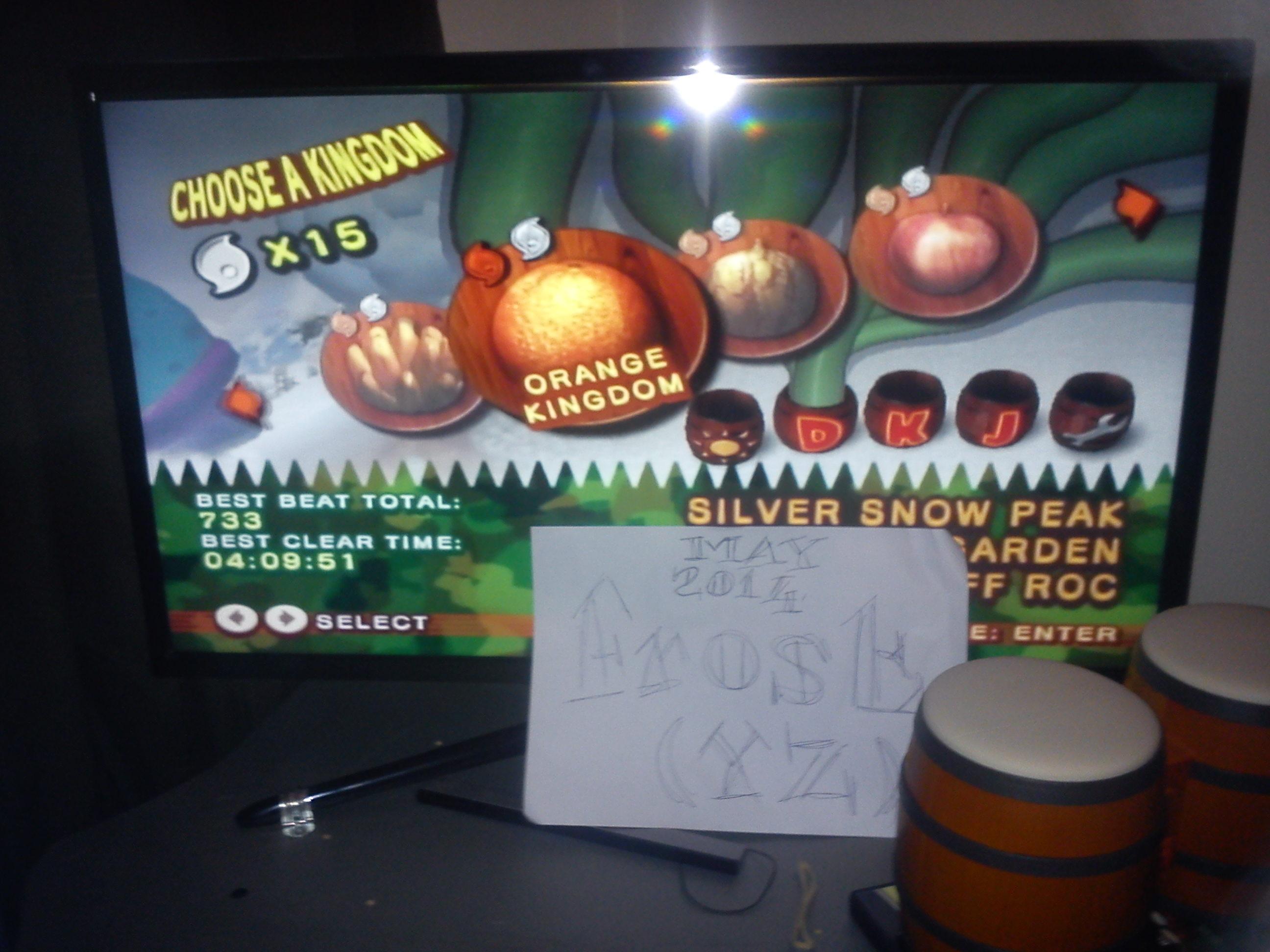 Donkey Kong Jungle Beat: Orange Kingdom 733 points