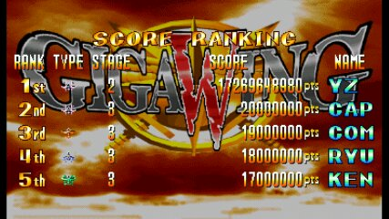 Giga Wing [gigawing] 17,269,648,980 points