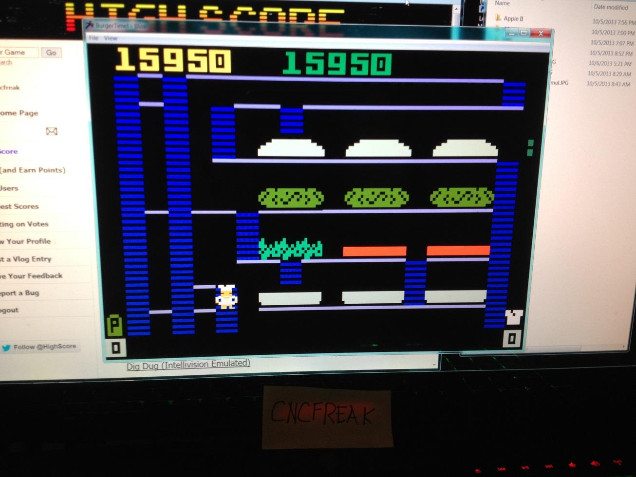 BurgerTime 15,950 points