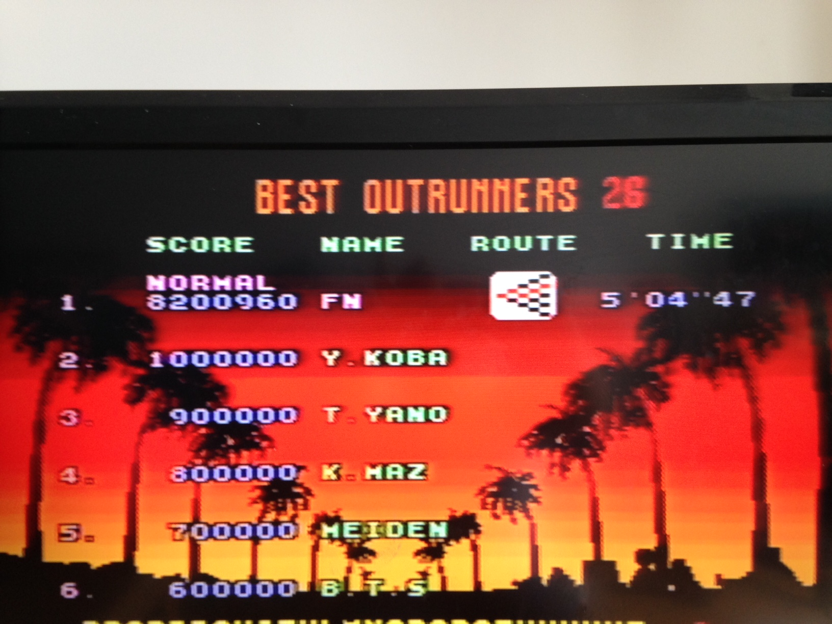 mechafatnick: Outrun: Normal (Sega Genesis / MegaDrive) 8,200,960 points on 2014-09-20 07:11:07
