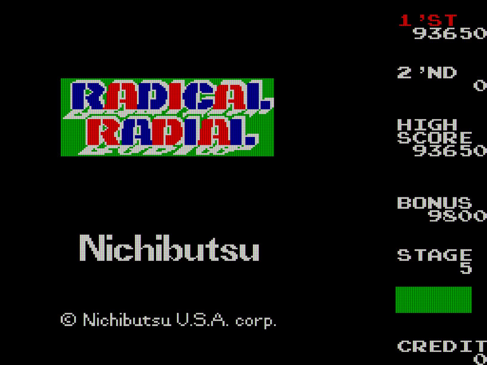 Shige: Radical Radial [radrad] (Arcade Emulated / M.A.M.E.) 93,650 points on 2014-09-20 15:10:05