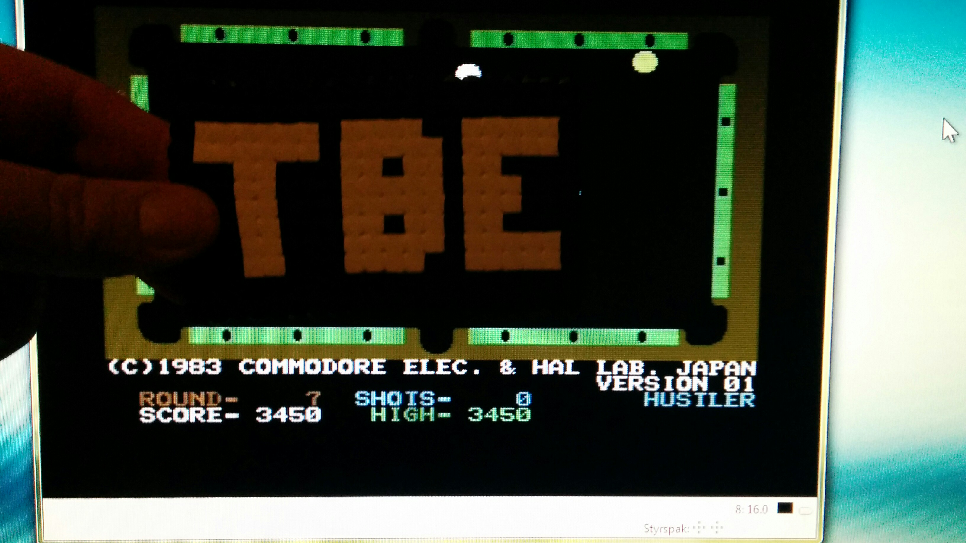 Sixx: Pool [Commodore]: Hustler (Commodore 64 Emulated) 3,450 points on 2014-09-20 16:28:06