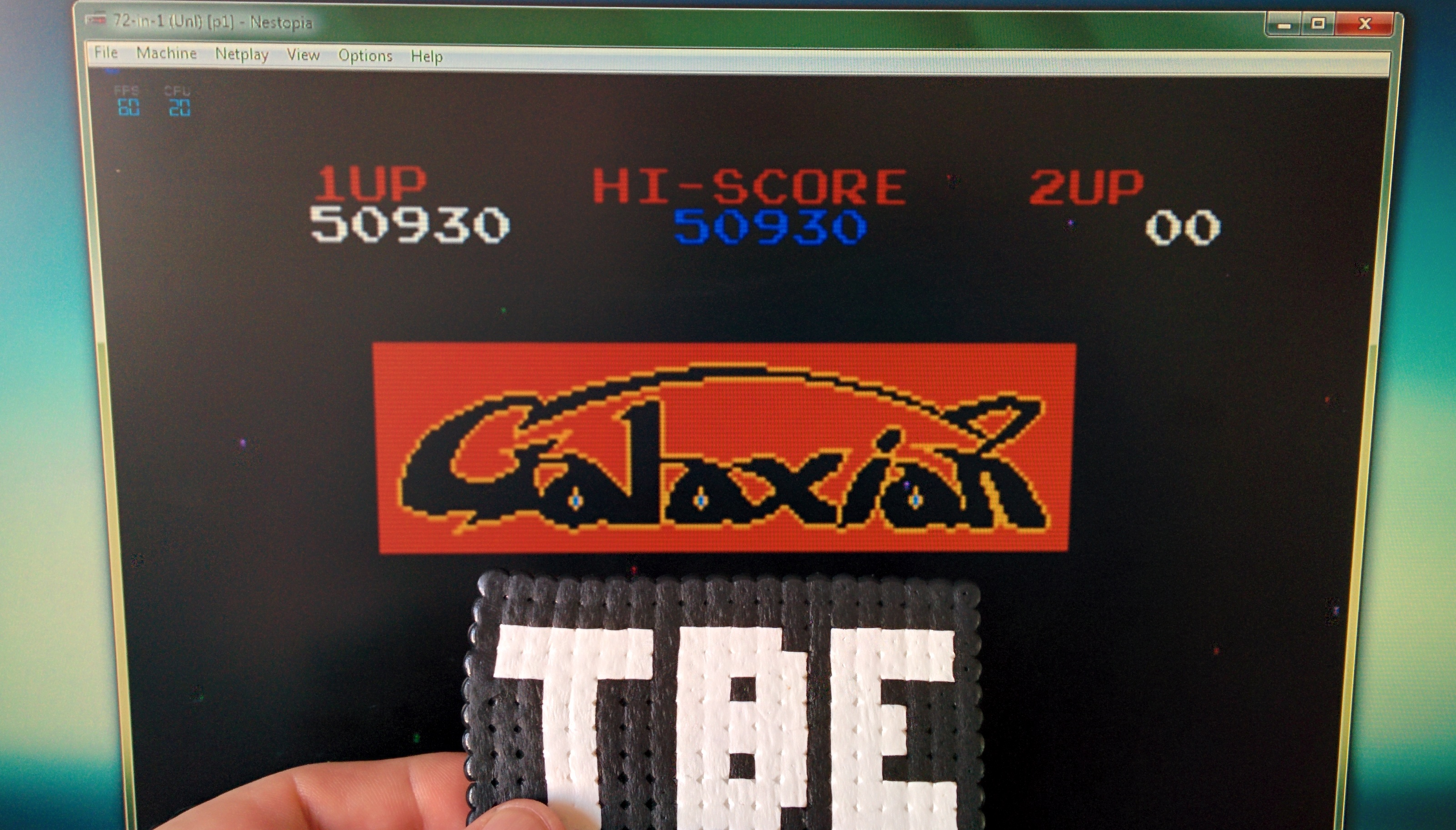 Sixx: Super Galaxian: 72-in-1 (Unl) [p1] (NES/Famicom Emulated) 50,930 points on 2014-09-21 09:34:10