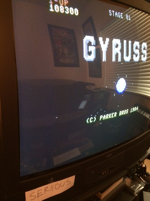 Serious: Gyruss (Commodore 64) 108,300 points on 2014-09-21 15:32:17